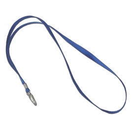 100 cordoncini porta badge blu con moschettone in metallo