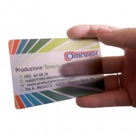 PVC CARD trasparente
